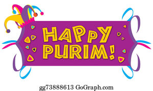 Purim - Happy Purim With A Jester Purim Hat