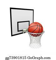 Basketball-Hoop - 3d Basketball Hoop And Ball