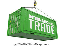 International-Trade - International Trade - Green  Hanging Cargo Container.