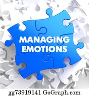 Emotions - Managing Emotions On Blue Puzzle.