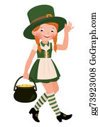 Happy-Woman-Leprechaun - Girl Dressed As Saint Patrick Day
