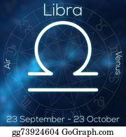 Zodiac-Sign-Crab - Zodiac Sign - Libra. White Line Astrological Symbol With Caption