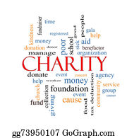Fundraiser - Charity Word Cloud Concept