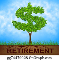 Retirement - Retirement Tree Indicates Finish Work And Branch