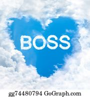 Bosses-Day - Love Boss Word On Blue Sky