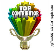 Fundraiser - Top Contributor Trophy Recognition Contribution Effort Help Supp