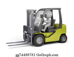 Hydraulic - Man On The Forklift Truck