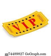 Admission-Ticket - Vip Ticket On White Background
