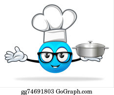 Butler - Blue People Chef With  Pot