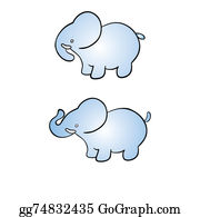 Cute-Animal-Cartoon-In-The-Jungle - Two Elephants