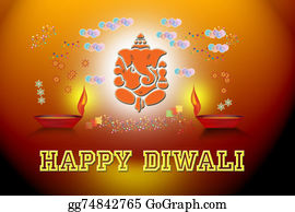 Ganesha - Happy Diwali- Greeting-Banner