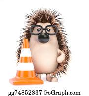 Roadworks - 3d Hedgehog Roadworks