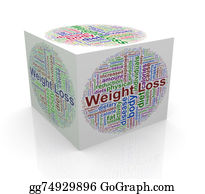Tissue-Box - 3d Cube Word Tags Wordcloud Of Weight Loss