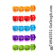 2014-Happy-New-Year-Box - New 2014 Year Numbers On 3d Cubes