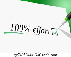 Hard-Work - Hundred Percent Effort Shows Hard Work And Completely