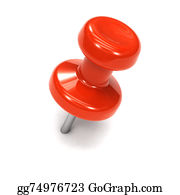 Tack - 3d Red Thumbtack