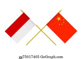 Indonesia - Flags, China And Indonesia