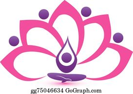 Golden-Lotus-Flower-Logo - Lotus Pink Flower Symbol Vector Logo Design