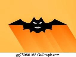 Scary-Funny-Dracula-Vampire-Cartoon - Bat Halloween Vector Illustration