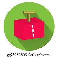 Tnt - Tnt Explosion Flat Icon.vector Illustration