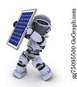 Solar-Panel - Robot With Solar Panel