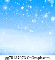 Falling-Snow-Background - Art Falling Snow On The Blue Background