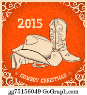 Cowboy-Boots - Western New Year With Western Boots And Western Hat
