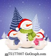 Christmas-Family - Funny Family Of Snowman At Christmas