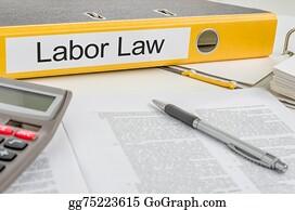 Labor-Union - Folder With The Label Labor Law