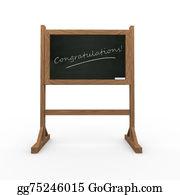 Appreciation - 3d Black Chalkboard Word Congratulations