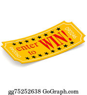 Admission-Ticket - Enter To Win Ticket On White Background