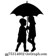 Little-Girls - Two Little Girls Under An Umbrella