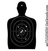 Shooting-Range - Human Target With Bullet Holes