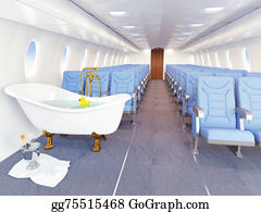 Cabin - Luxury Bathtube In Airplane