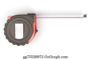 Millimeter - Tape Measure On The White Background Top View