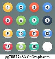 Cue-Ball - Colored Pool Balls