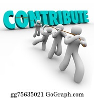Fundraiser - Contribute 3d Word Pulled Up By Team Giving Sharing Contribution