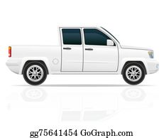 Tractor-Trailer - Car Pick-Up Illustration