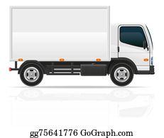 Tractor-Trailer - Small Truck For Transportation Cargo Illustration