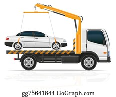 Tow-Truck - Tow Truck For Transportation Faults And Emergency Cars Illustrat