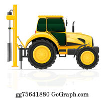 Drilling-Rig - Tractor With A Drilling Rig Illustration