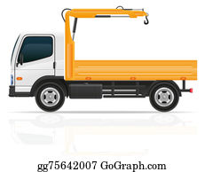 Tow-Truck - Truck With A Small Crane For Construction Illustration