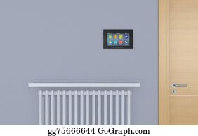 House-Alarm-Concept-Icon - Home Automation Panel