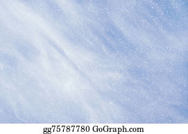 Falling-Snow-Background - Falling Snowflakes On  Blue Background