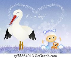 Stork - Stork With Baby