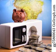 Electric-Meter - Brown Piggy On Electric Meter