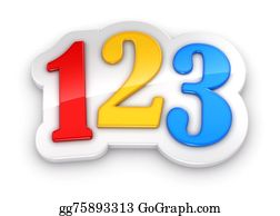 First-Day-Of-School - Colorful Numbers 123 On White Background