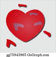 Unusual-Valentine - The Broken Heart. Illustration