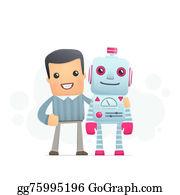 Best-Friends - Man And The Robot Best Friends