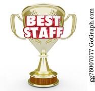 Appreciation - Best Staff Trophy Prize Award Top Workforce Team Employees